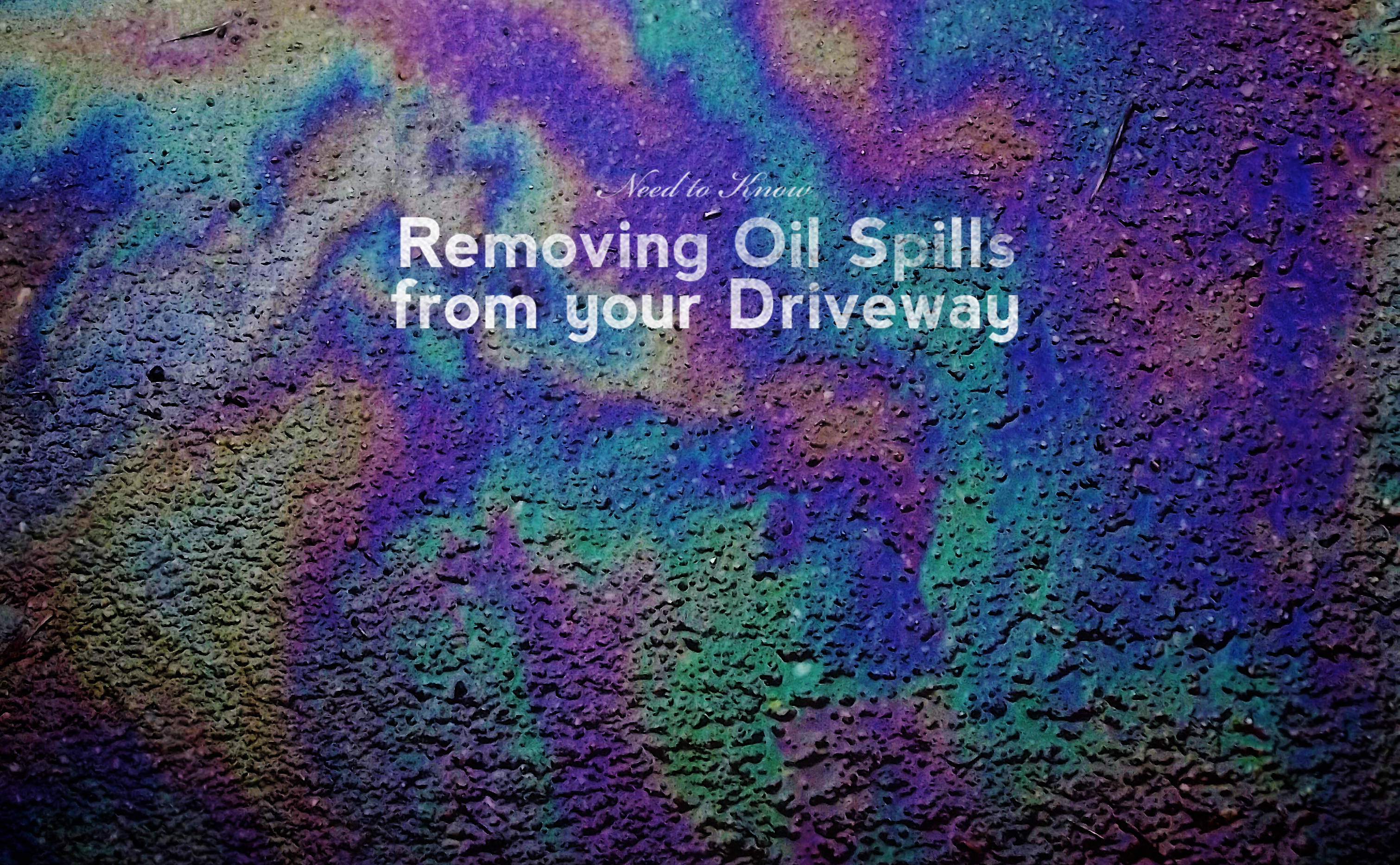 Removing Oil Spills from your Driveway