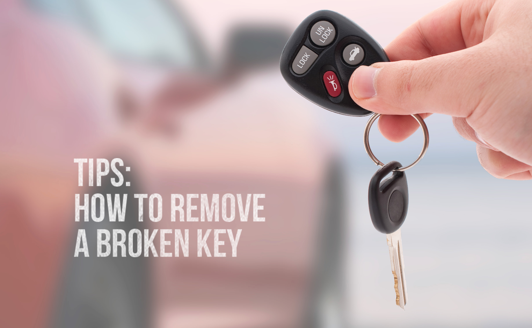 How to remove a broken key from your ignition