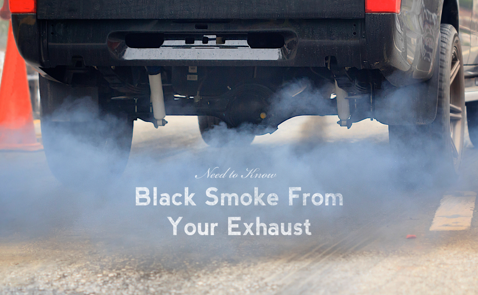 Why is black smoke coming out of my exhaust pipe?