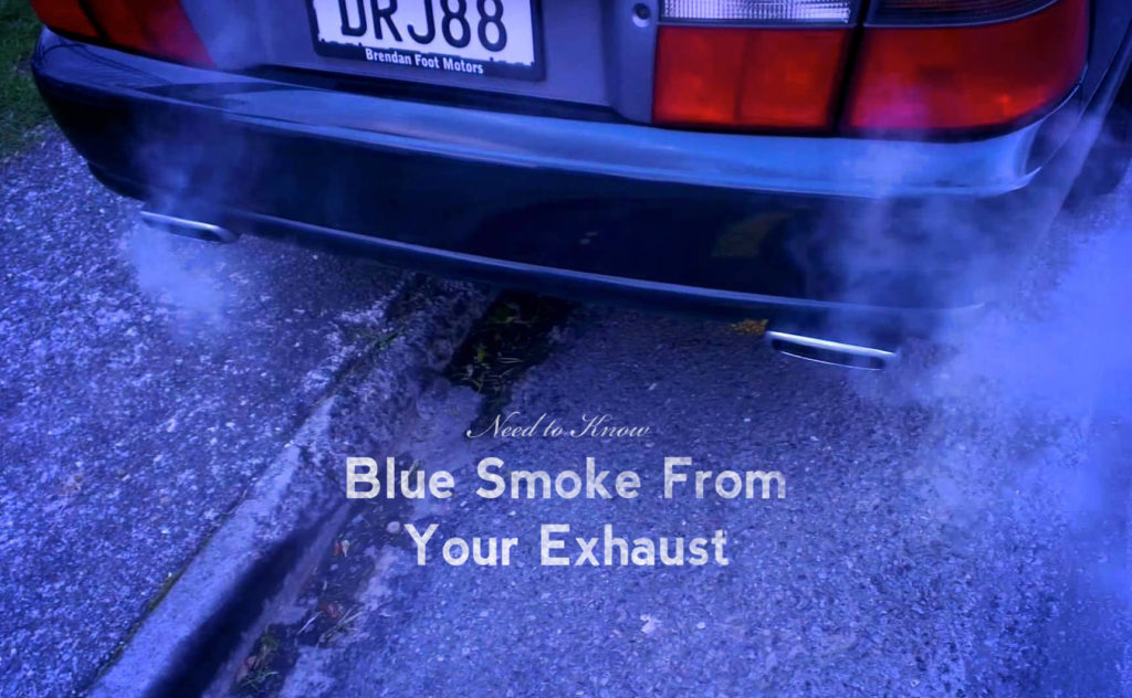 Why is blue smoke coming out of my exhaust pipe?   Parkside