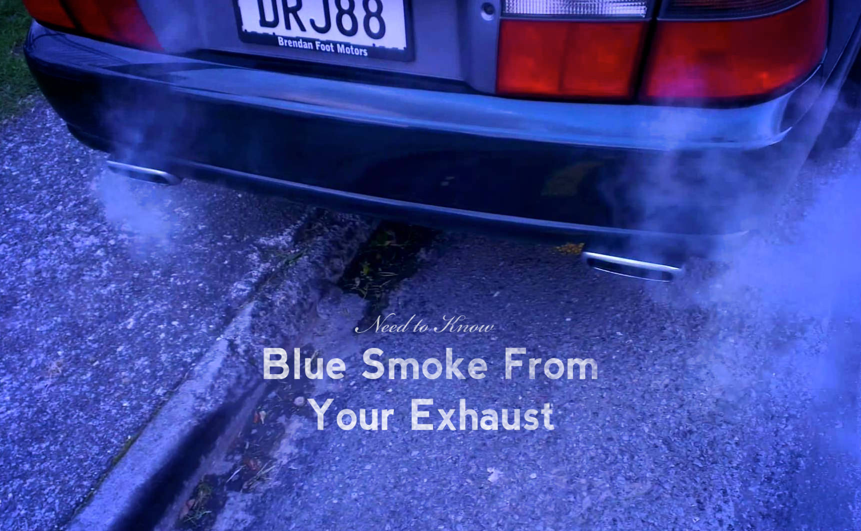 Why is blue smoke coming out of my exhaust pipe?