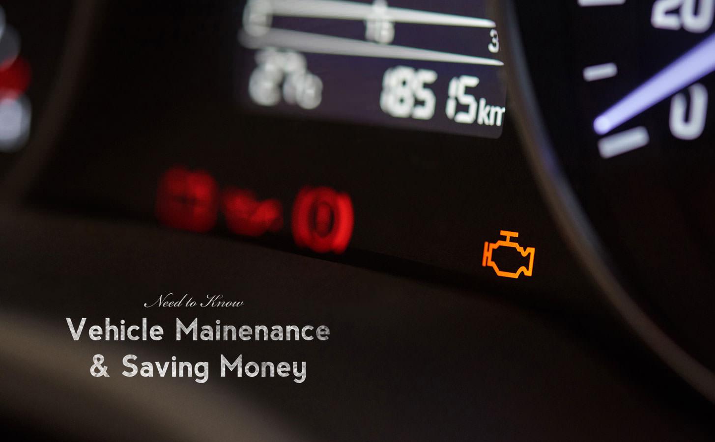 Vehicle Maintenance & Saving Money