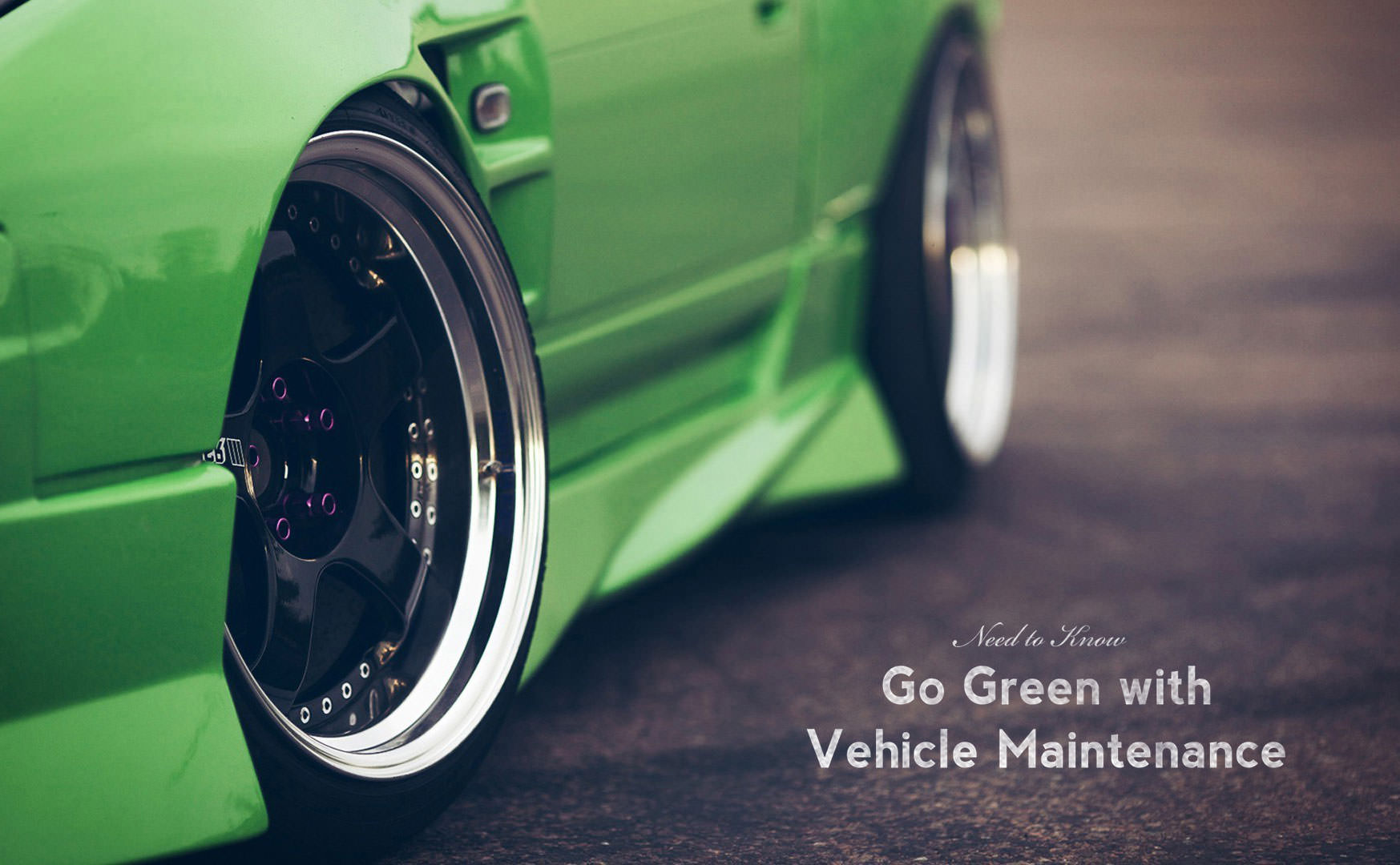 Go Green with Vehicle Maintenance